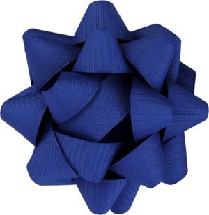 Royal Blue Grosgrain Gift Bow