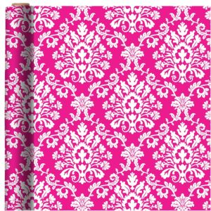 Jumbo Bright Pink Brocade Gift Wrap