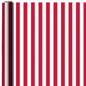 Jumbo Apple Red Striped Gift Wrap