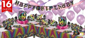 Neon Doodle Deluxe Party Kit for 16 Guests
