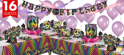 Neon Doodle Party Supplies Deluxe Party Kit