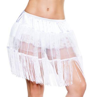 Adult White Fringe Petticoat