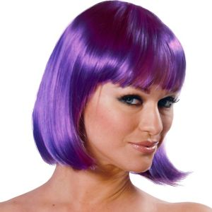 Charm Premium Purple Bob Wig