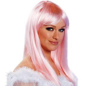 Eden Premium Shoulder-Length Pink Wig