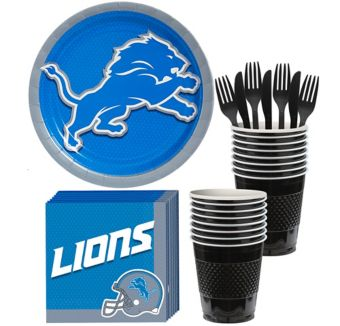 Detroit Lions Basic Party Kit for 18 Guests