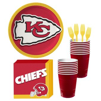Kansas City Chiefs Basic Party Kit for 18 Guests