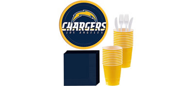 San Diego Chargers Basic Party Kit for 18 Guests