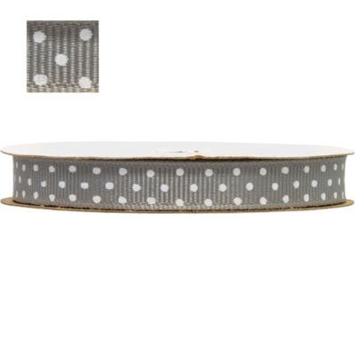 Silver Polka Dot Ribbon