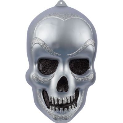 Vacuform Glitter Skull Decoration