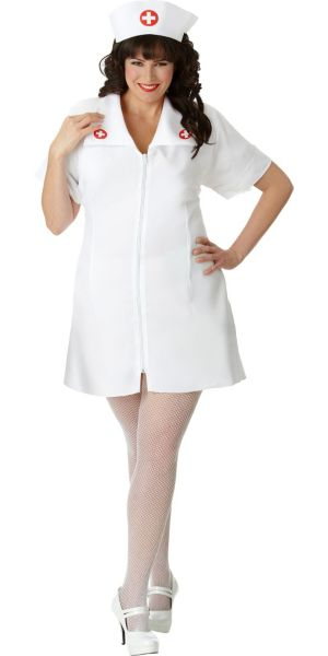 Adult Hospital Honey Nurse Costume Plus Size