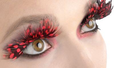 Ladybug Feather False Eyelashes