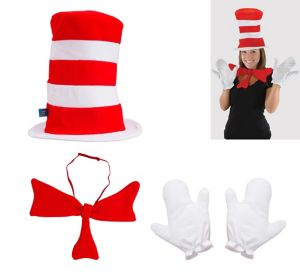Adult Cat in the Hat Accessory Kit - Dr. Seuss