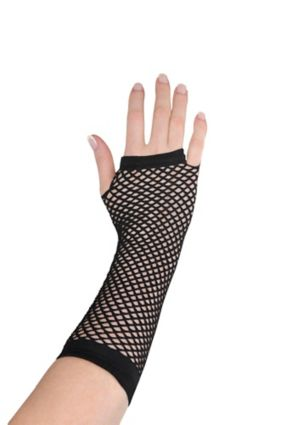 Long Black Fishnet Glove