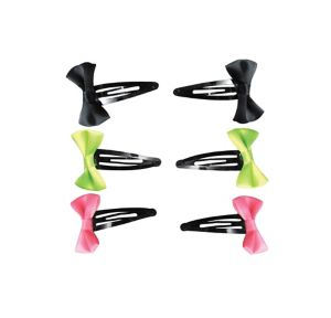 Neon Bow Barrettes 6ct