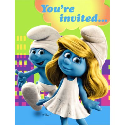 Smurfs Invitations 8ct