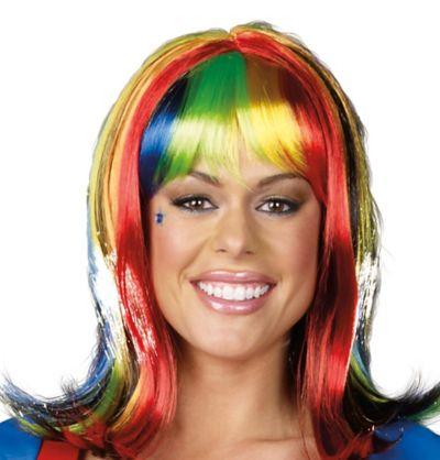 Light-Up Rainbow Wig