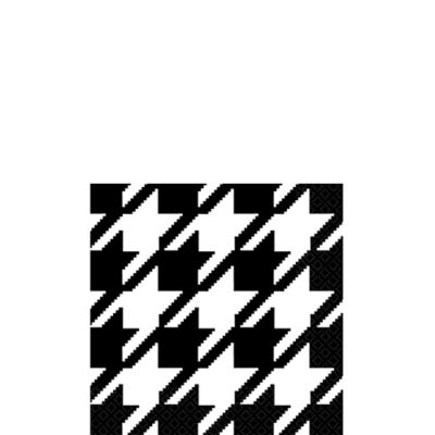Houndstooth Beverage Napkins 16ct