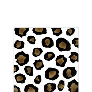 Leopard Beverage Napkins 16ct