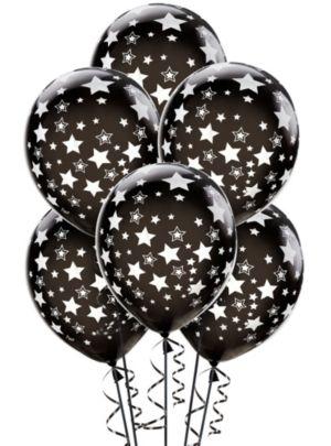 Black Star Balloons 6ct