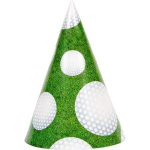 Golf Party Hats 8ct