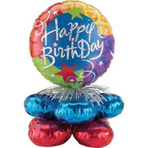 Happy Birthday Mini Balloon Column