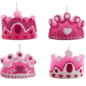 Princess Tiara Candles 4ct