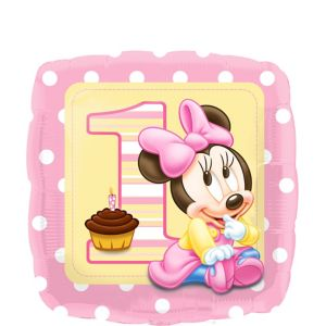 1st Birthday Minnie Mouse Balloon