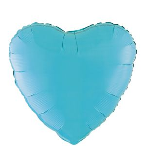 Caribbean Blue Heart Balloon