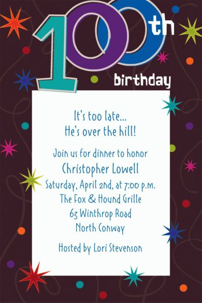 Custom The Party Continues 100th Birthday Invitations
