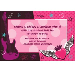 Custom Rocker Girl Invitations