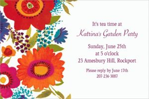 Custom Floral Splash Invitations