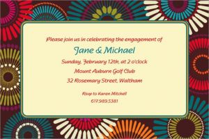 Custom Modern Motif Invitations