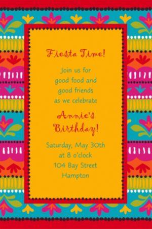 Custom Fiesta Brights Invitations