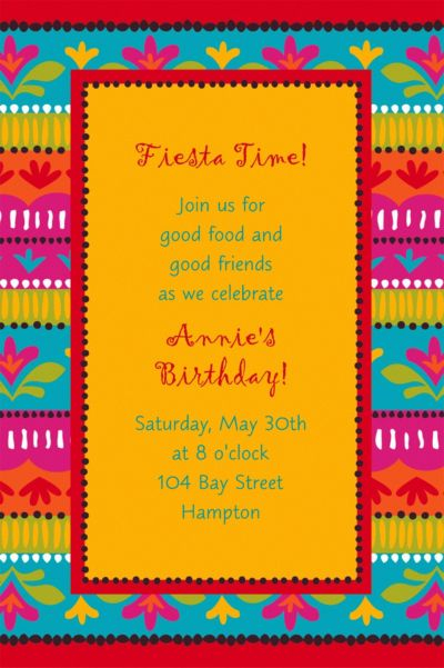Custom Fiesta Brights Invitations