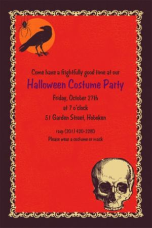 Custom Be Afraid Halloween Invitations
