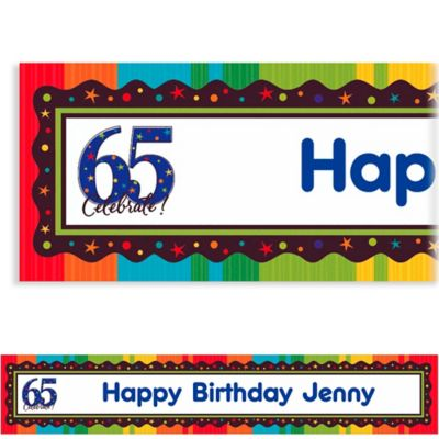 A Year to Celebrate 65 Custom Banner 6ft