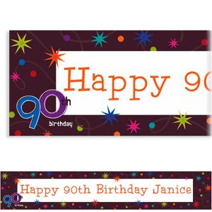 Custom The Party Continues 90th Banner 6ft
