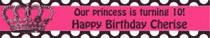 Custom Rocker Princess Banner 6ft