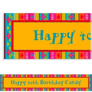 Custom Fiesta Brights Banner 6ft