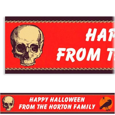 Be Afraid Halloween Custom Banner