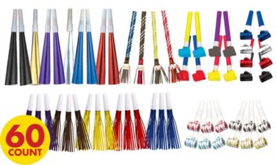 Assorted Colors Noise Makers 60ct