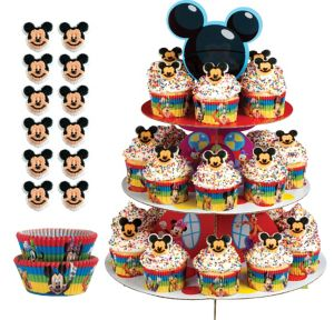 Deluxe Mickey Mouse Cupcake Kit for 24