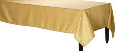 Metallic Gold Fabric Tablecloth