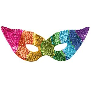 Sequin Rainbow Eye Mask