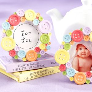 Cute as a Button Photo Frame