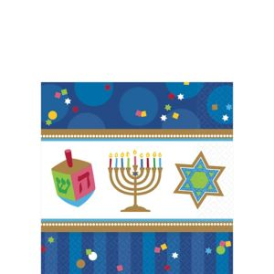 Hanukkah Celebrations Beverage Napkins 36ct