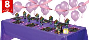 Neon Birthday Basic Party Kit for 8 Guests