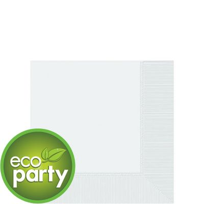 Eco Friendly White Beverage Napkins 50ct