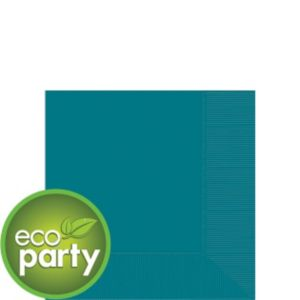 Eco-Friendly Peacock Blue Beverage Napkins 50ct