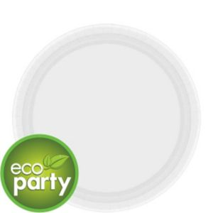 Eco Friendly White Paper Dessert Plates 24ct